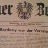 In the Hausarchiv: Wiener Zeitung, 4 November 1945