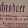 In the Hausarchiv: Friedrichrodaer Zeitung, 28 August 1915