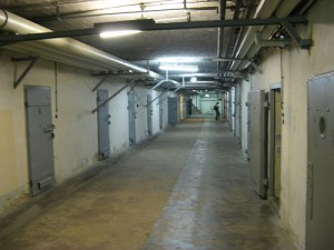 A corridor at Hohenschönhausen, a Stasi prison in Berlin.