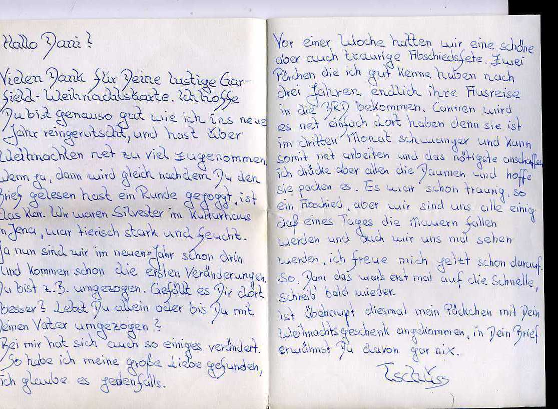 Someday The Wall Will Fall  Letter From An East German Penpal